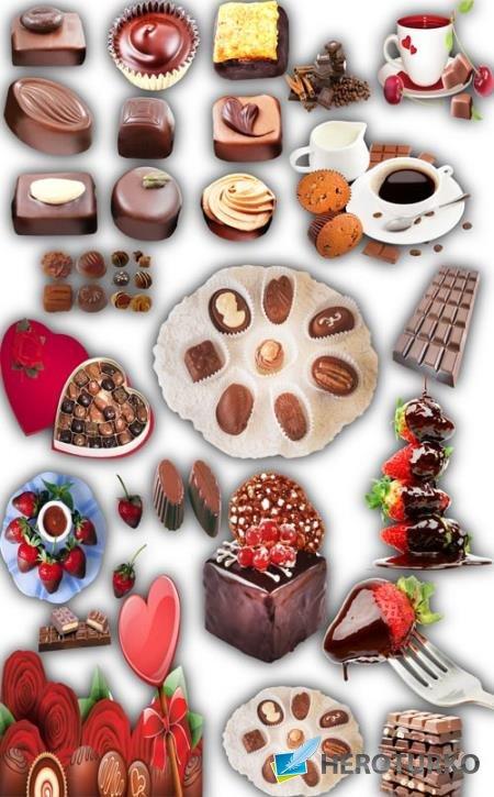 Клипарты для фотошопа - Шоколадные изделия
